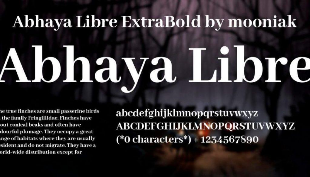 Abhaya-Libre-free-font | Sparkle Web Digital Services